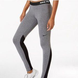 NIKE PRO Dri-Fit Gray Black Mesh Pant Leggings